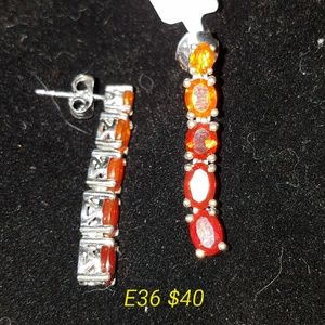 Jewelry - Fire Opal Earrings
